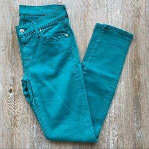 7 For All Man Kind | The Skinny Turquoise Jeans